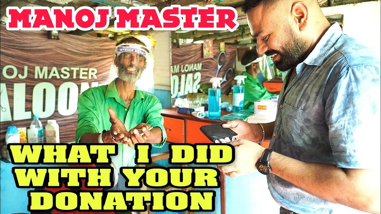 PROTECTIVE EQUIPMENT FOR DURING COVID TIME MANOJ MASTER #DONATION VLOG PART -1 ,💈INDIAN BARBER