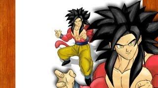 Desenhando - Goku SSJ4