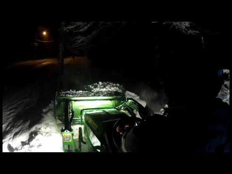 John Deere 1025R w HLA 1500 Snow Pusher