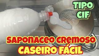 CIF SAPONÁCEO CREMOSO CASEIRO - FAÇA 100ML RENDER 1 LITRO 😉