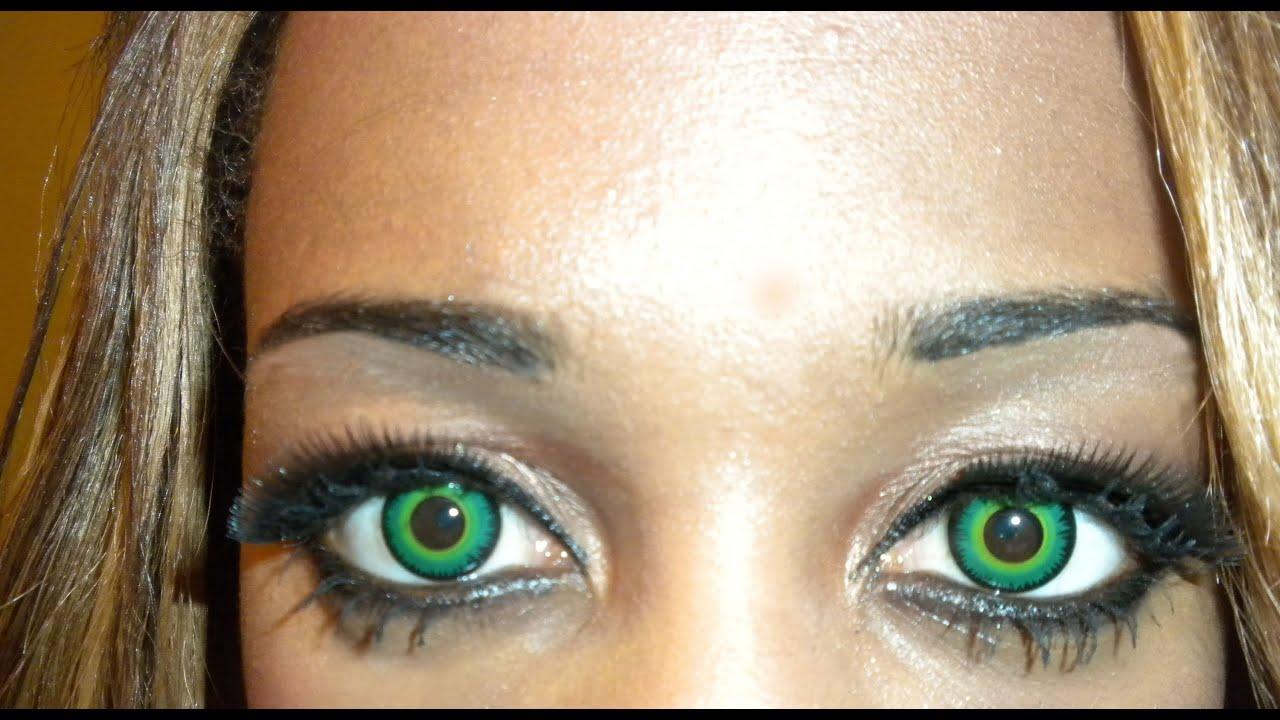 Green Werewolf Contacts lenses - YouTube  Green Werewolf ...