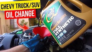 How To Change Oil Chevy GMC Truck or SUV -Jonny DIY thumbnail