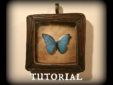 Tutorial: 'The Butterfly Collector' Shadow Box Resin & Polymer Clay Pendant Tutorial | Velvetorium