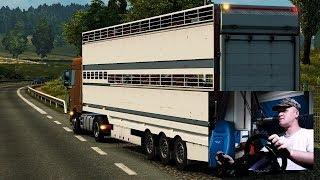 Euro Truck Simulator 2 (Перевозка животного скота) 04.07.2019
