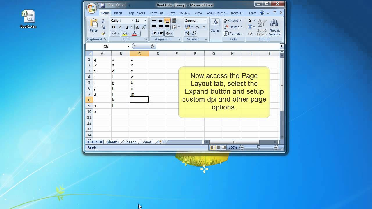 Printing an entire Excel workbook to a single PDF file