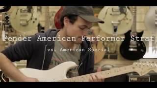 Fender Performer Stratocaster vs. American Special