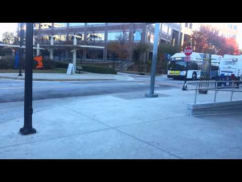 MARTA Bus Action at Lindbergh Center Station