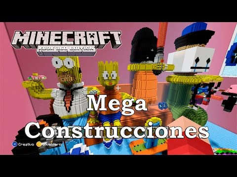 Minecraft: XBOX 360 Edition - Mega Contrucciones Epicas The Simpsons & Star Wars DeeperComb41 part.1