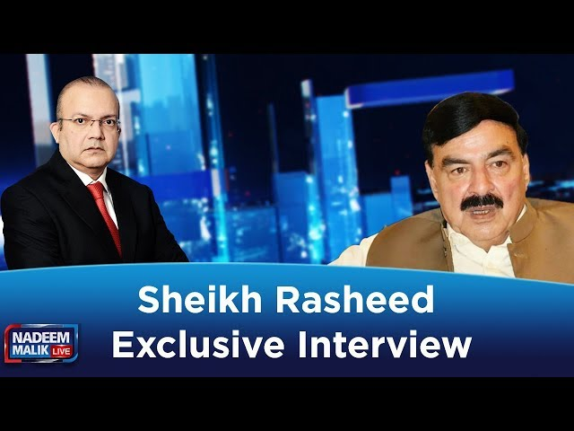 Railway Minister Sheikh Rasheed Exclusive Talk | Nadeem Malik Live | 13 Nov 2019