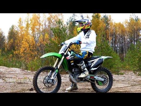 First Time On 4 Stroke Dirt Bike Kx250f Youtube