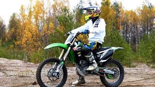 First time on 4-stroke dirt bike - KX250F
