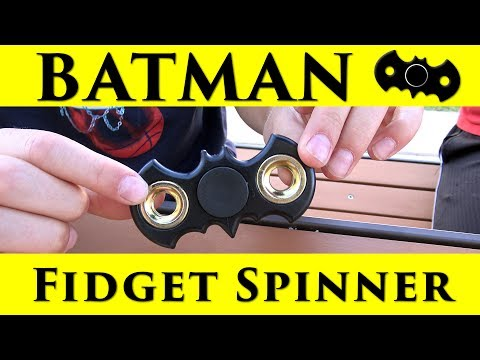 Batman Fidget Spinner Unboxing