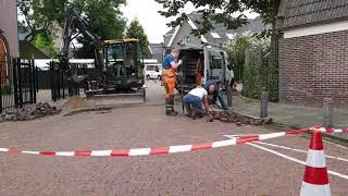 Werkzaamheden na leiding breuk in Bunschoten