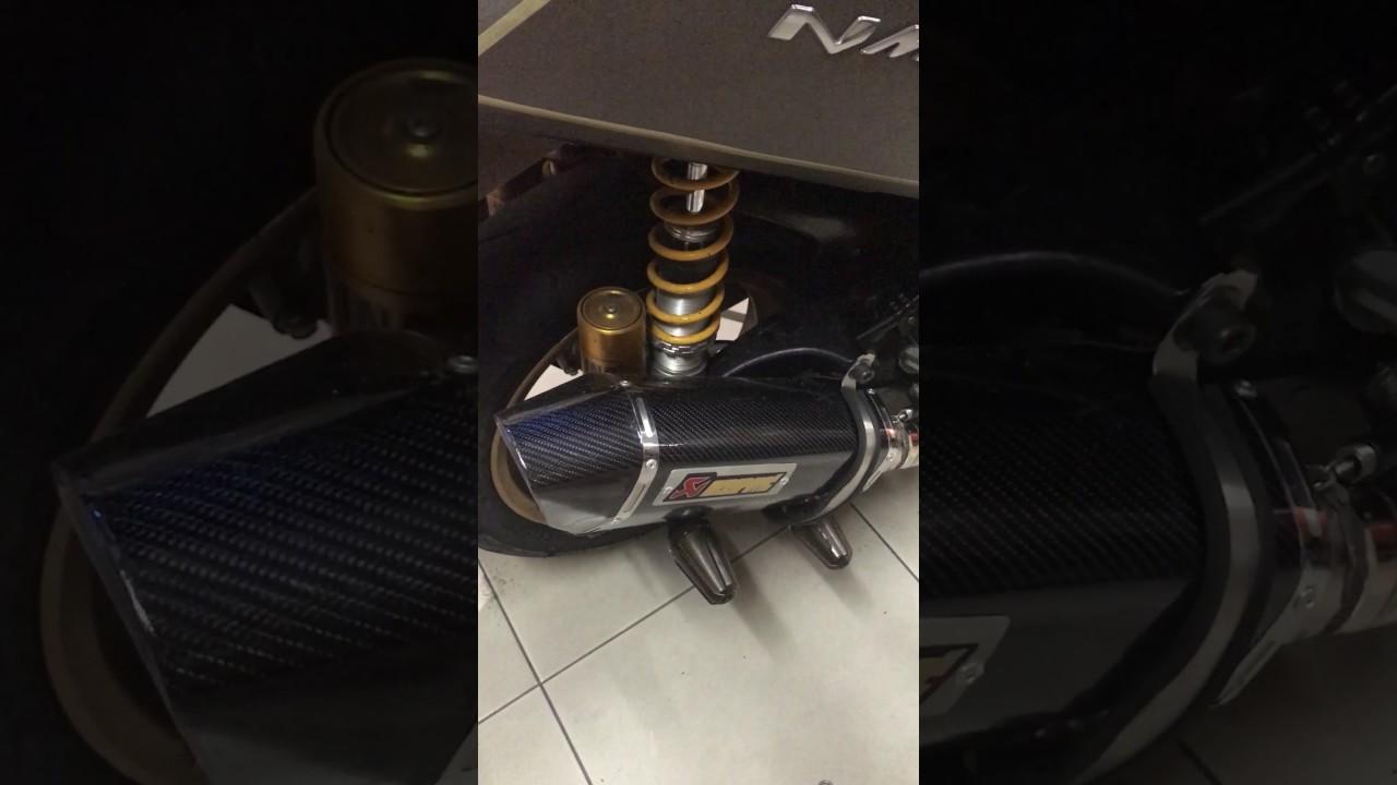 N Max With Akrapovic Super Nge Bass Knalpot Prospeed Black Series Yamaha Nmax 150 Fullsystem