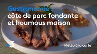 Gastronomie : côte de porc fondante et houmous maison - Météo à la carte