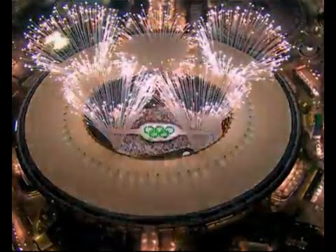 """""""Olympic rings"""" 2016 unveiled to fireworks at Maracana Stadium   Olympic fireworks test"""