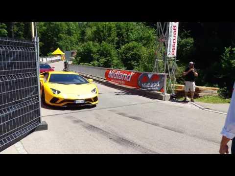 "The remaining two ""the grand tour"" cars starting Hemberg hillclimb"