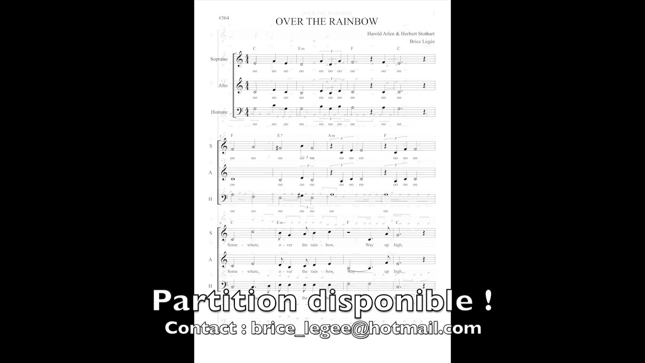 Somewhere Over The Rainbow - Choir