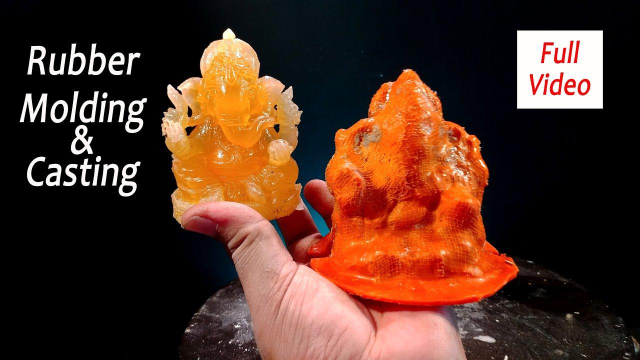 Ganapati Bappa Morya Rubber Molding & Fiberglass Casting Total Process    Art Tech