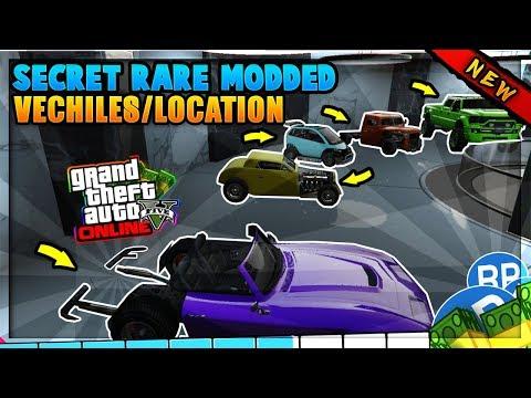 GTA 5 ONLINE - *SECRET* RARE MODDED CARS LOCATIONS IN GTA 5! RARE STORABLE CAR SPAWNS! (Rare Cars)