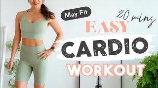 居家20分鐘全身性阻力有氧運動適合初中階者入門 (徒手無器材可) Athome 20 min full body cardio workout