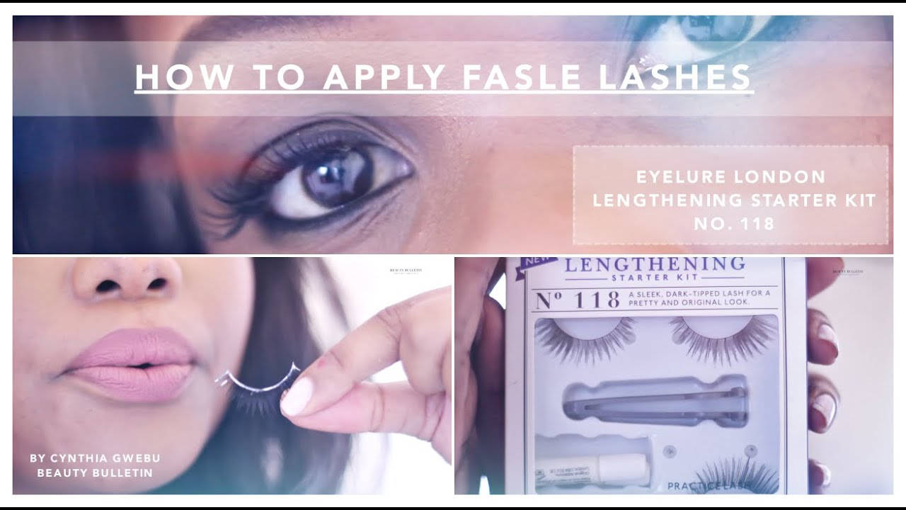 False Lash Application Eyelure Lengthening Starter Kit 118 Youtube