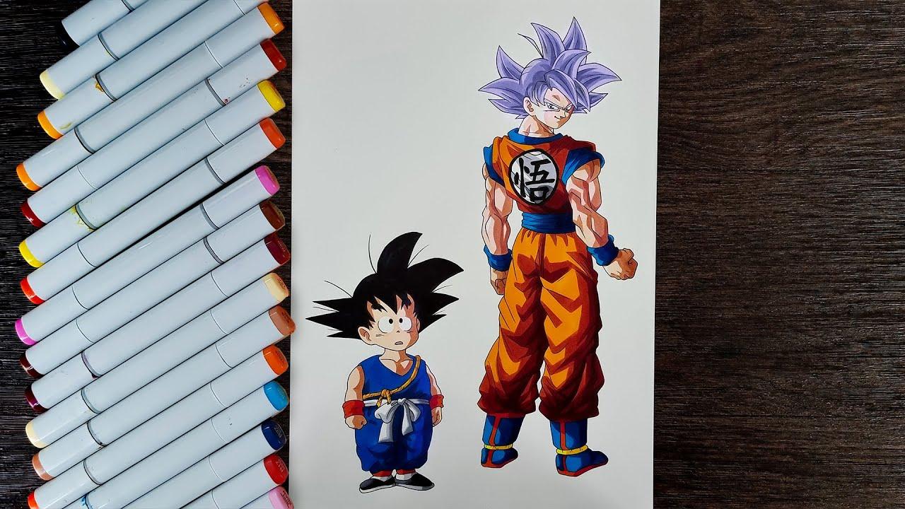 Download Drawing Goku Ultra Instinct Path to Power | Dragon Ball Super
