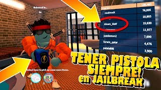 As TO HAVE FOREVER ESPOSAS and PISTOLA being PRISONER in JAILBREAK !! (Roblox Secret)