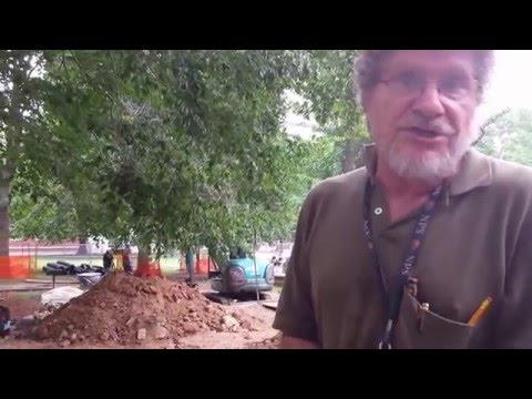 Archaeologist speaks about the site of the office of the US Secretary of the Navy.