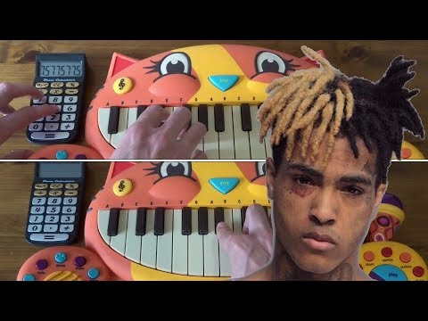 XXXTENTACION- Everybody Dies In Their Nightmares ON A DRUM CALCULATOR, 2 CAT PIANOS AND A GUITAR