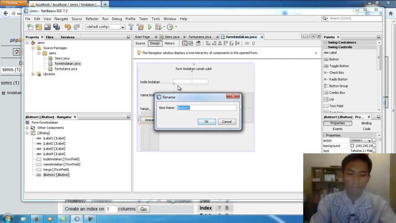 Tutorial membuat aplikasi yang terhubung dengan database dengan menggunakan MySQL dan Java NetBeans #1
