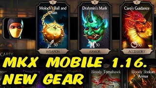 MKX Mobile 1.16. NEW GEAR. Karo's Guidance, Drahmin's Mask, Moloch's Ball and Chain.