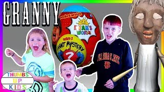 GRANNY Horror Game In Real Life New RYAN TOYSREVIEW Series 2 Blue Giant Egg Surprise