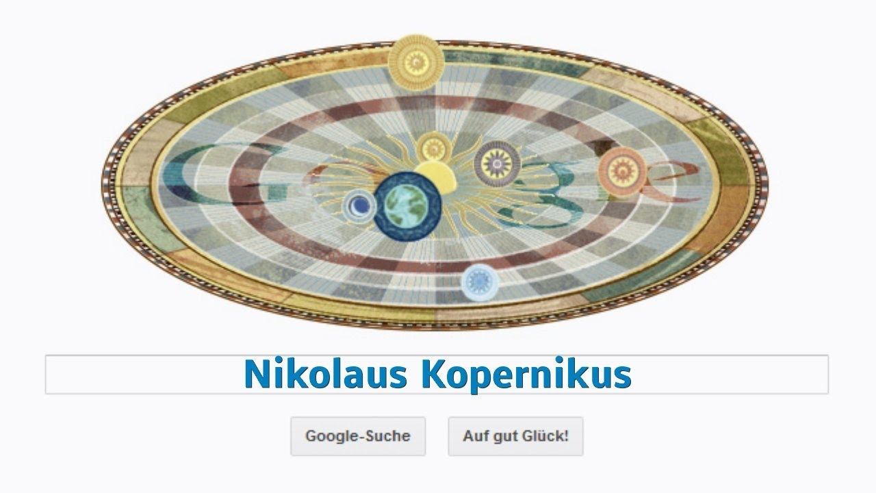 Nikolaus Kopernikus (Nicolaus Copernicus) Google-Doodle - YouTube