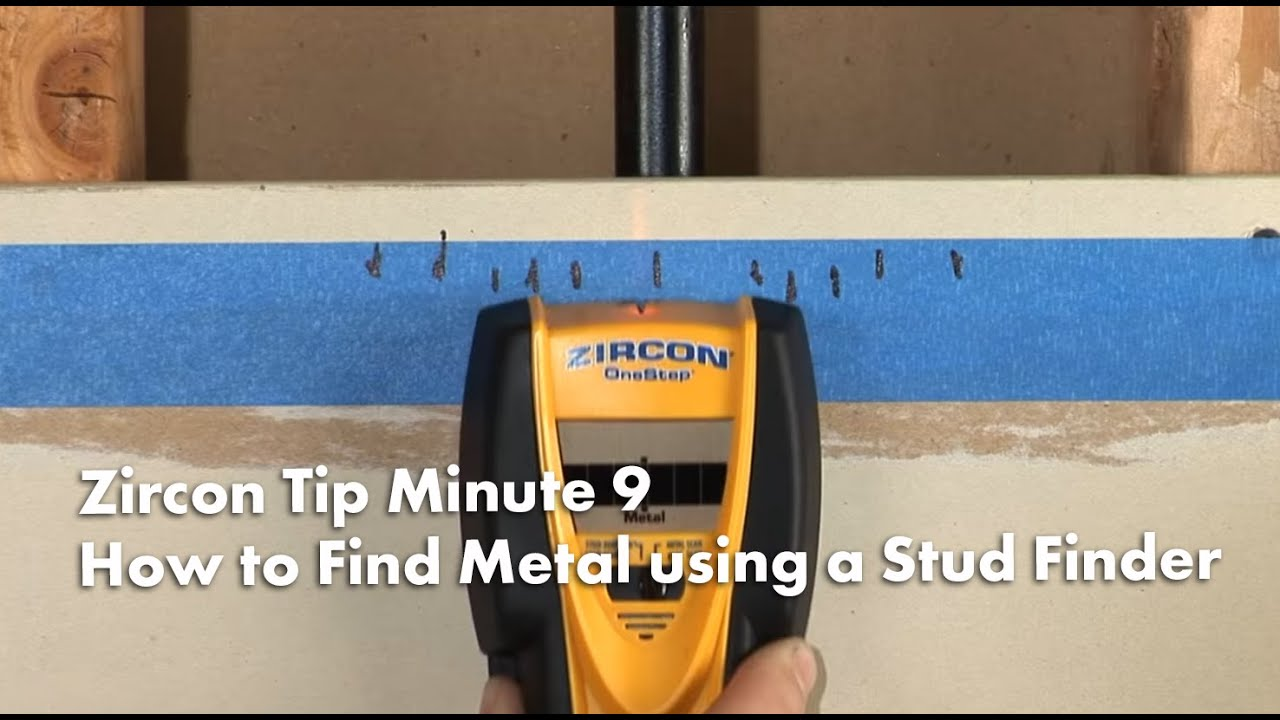 Zircon Tip Minute 9 How To Find Metal Using A Stud Finder Youtube Had Attach 1x1 Post The Joist Position Sensor At