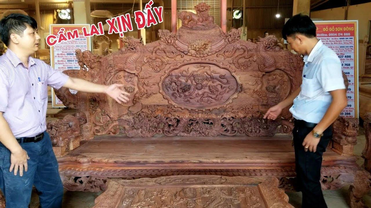 Bàn ghế rồng đỉnh gỗ cẩm lai siêu VIP chỉ có tại Noithatsondong.com