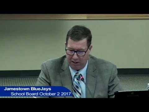 Jamestown Public Schools Board Meeting October 2 2017