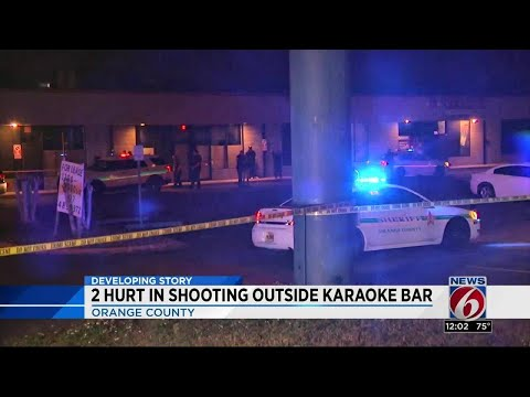 2 hurt in shooting outside karaoke bar