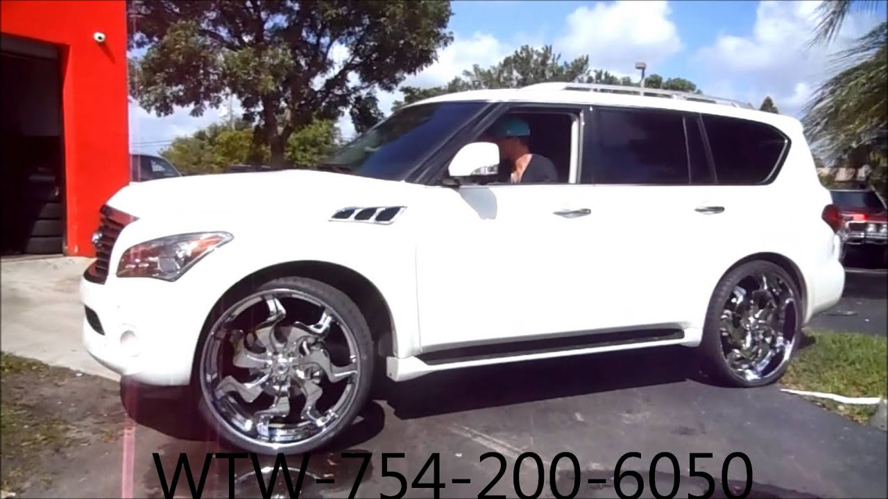 Acewhips wtw customs broward white 2012 infiniti qx56 on 28 net wtw customs broward white 2012 infiniti qx56 on 28 vf603 asantis youtube vanachro Choice Image