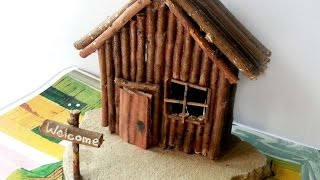How To Create A Miniature Wooden Cabin - DIY Crafts Tutorial - Guidecentral