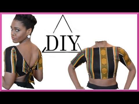 DIY tie back crop top | SHANiA