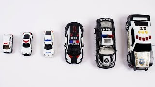 Sizes Of Police Car For Kids Children Babies Toddlers   Police Cars For Kids   Kids Learning Video