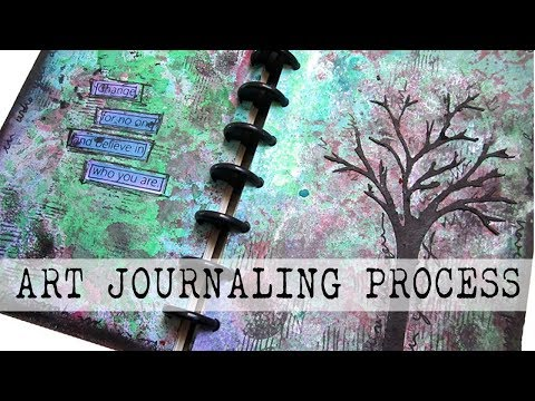 Art Journal Process | Marabu Art Sprays and Crayons | Mixed Media Art Journaling with Joggles