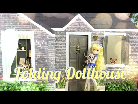 DIY - How to Make: Folding Dollhouse - Handmade - Doll - Crafts