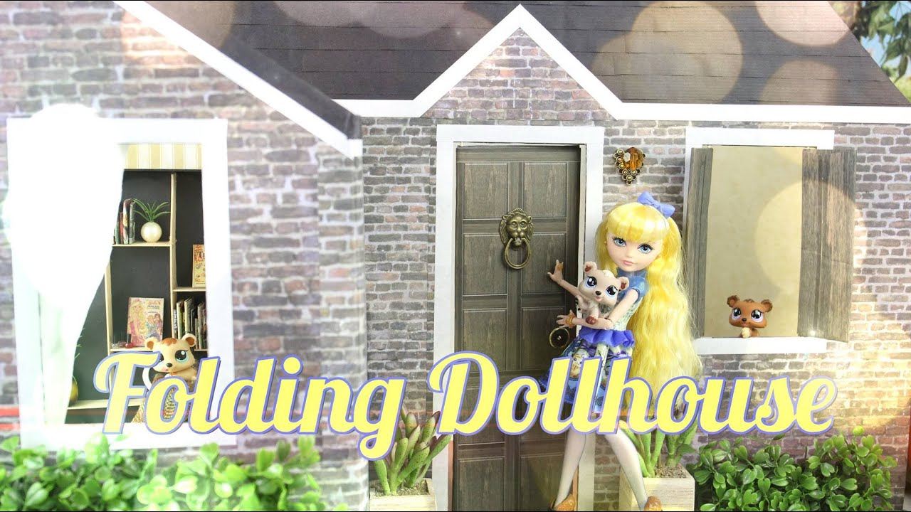 Diy how to make folding dollhouse handmade doll for Make my house