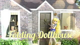 How to Make a Folding Dollhouse - Doll Crafts