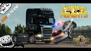Euro Truck Simulator 2 Multiplayer Funny Moments & Crash Compilation #32