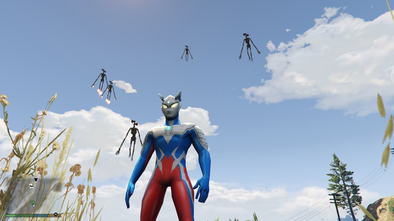 Ultraman Zero Battle Siren Head SCP - 6789 | GTA 5 Mod