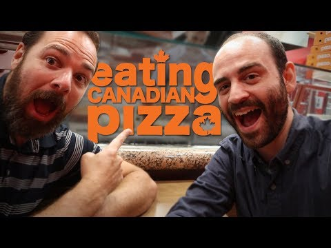 American Tries Canadian Pizza Chain Restaurant (Pizza Pizza)