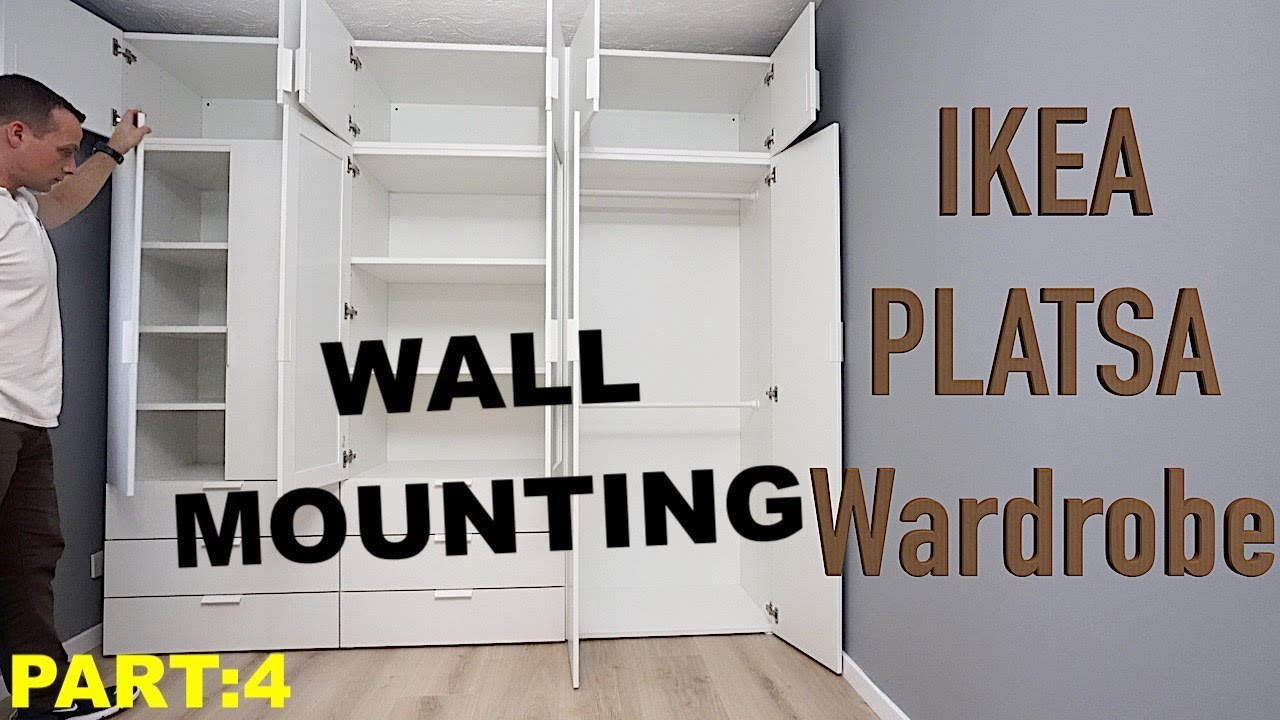 Ikea Platsa Wardrobe Wall Mounting Platsa Doors Adjustment Part 4